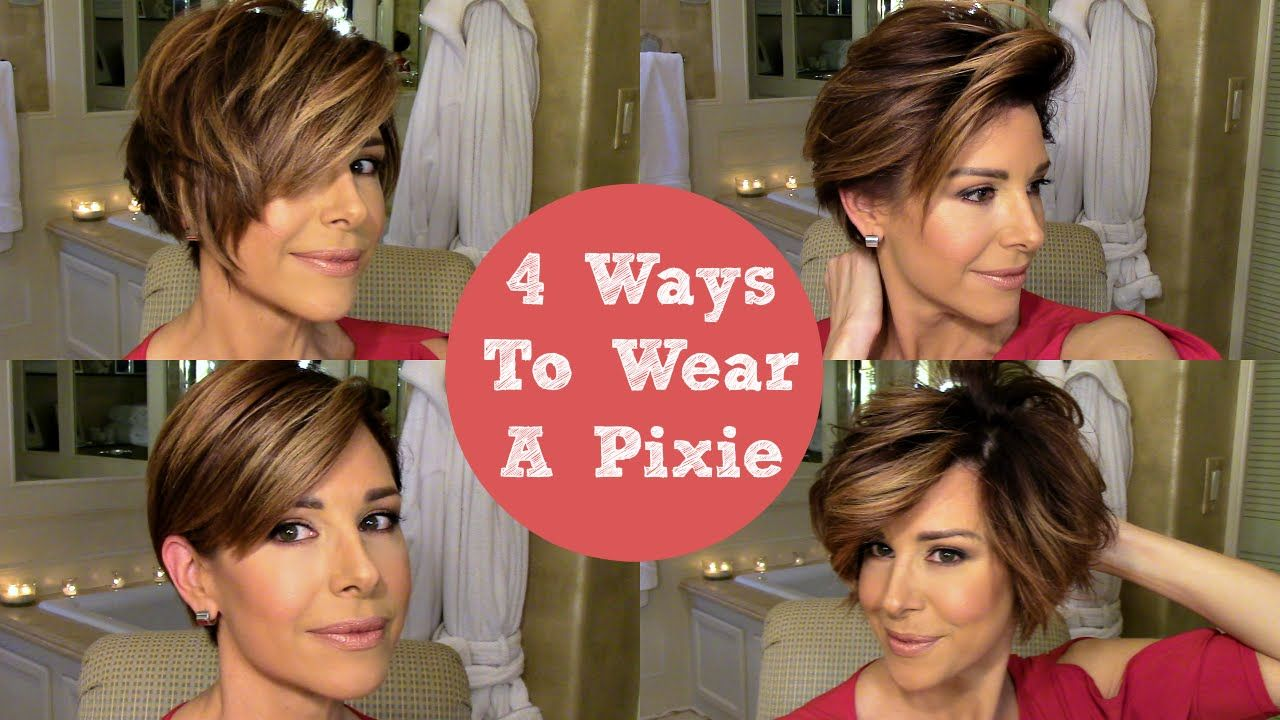 How To Style A Pixie 4 Ways Pixie Hairstyles Short Hair Styles Easy Short Hair Styles