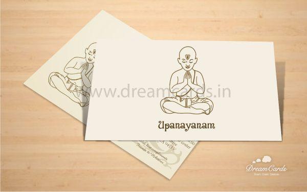 Upanayanam Invitation Card For The Thread Ceremony Upanayanam