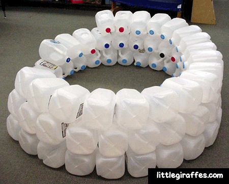 how to build an igloo out of milk jugs
