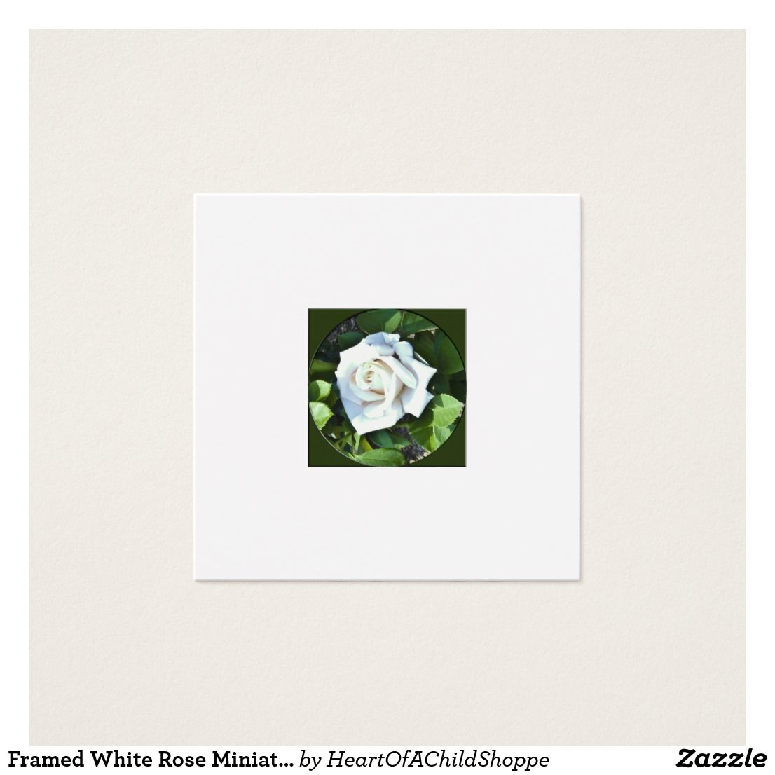 Picture frame mount card image collections craft decoration ideas framed white rose miniature dollhouse art square business card framed white rose miniature dollhouse art square magicingreecefo Gallery