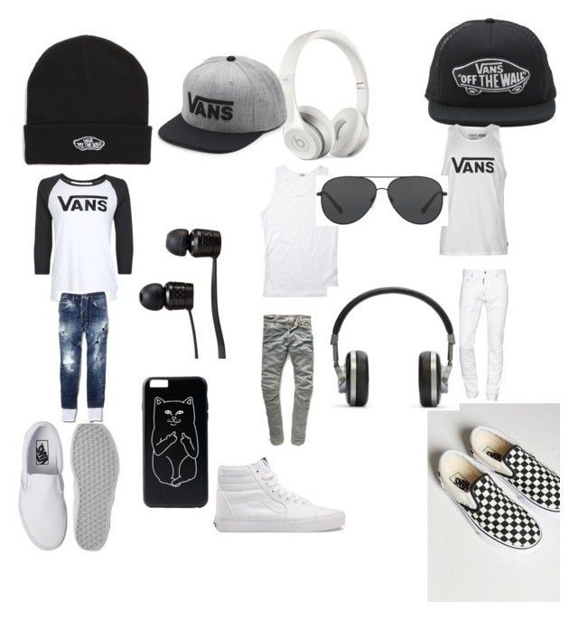 """""""all white vans do"""" by uglyrugwil on Polyvore featuring Vans, Dsquared2, G-Star Raw, Beats by Dr. Dre, Master & Dynamic, Michael Kors, men's fashion and menswear"""