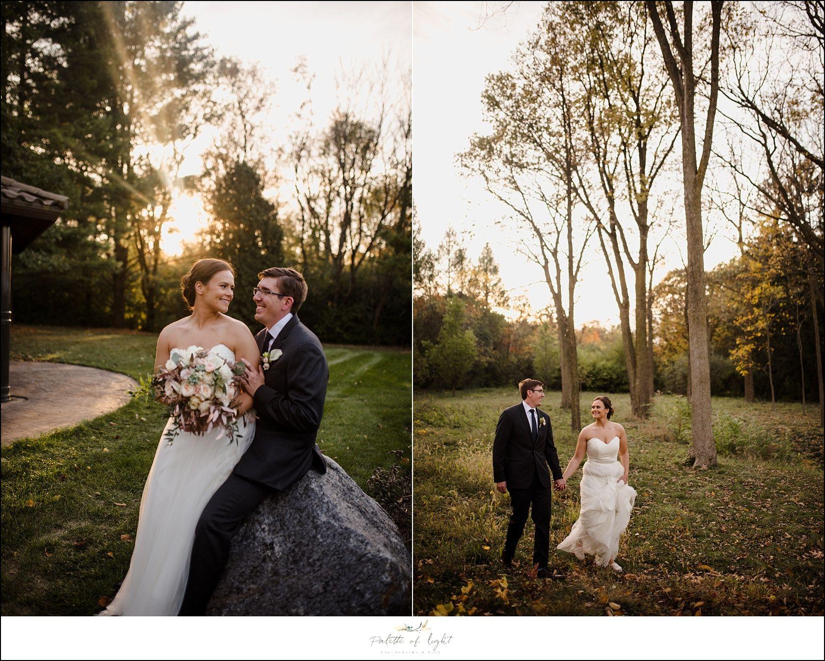 Fall Feels Wedding at Klehm Arboretum | Florists, Reception and Wedding