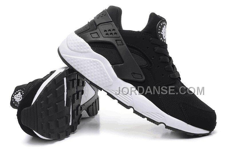 NK Air Huarache Premium Triple Black White Shoes Men