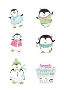 Free Papers from Paperpcraft Inspirations : Blog Party 2013 Cute Penguin Printables & Digistamps