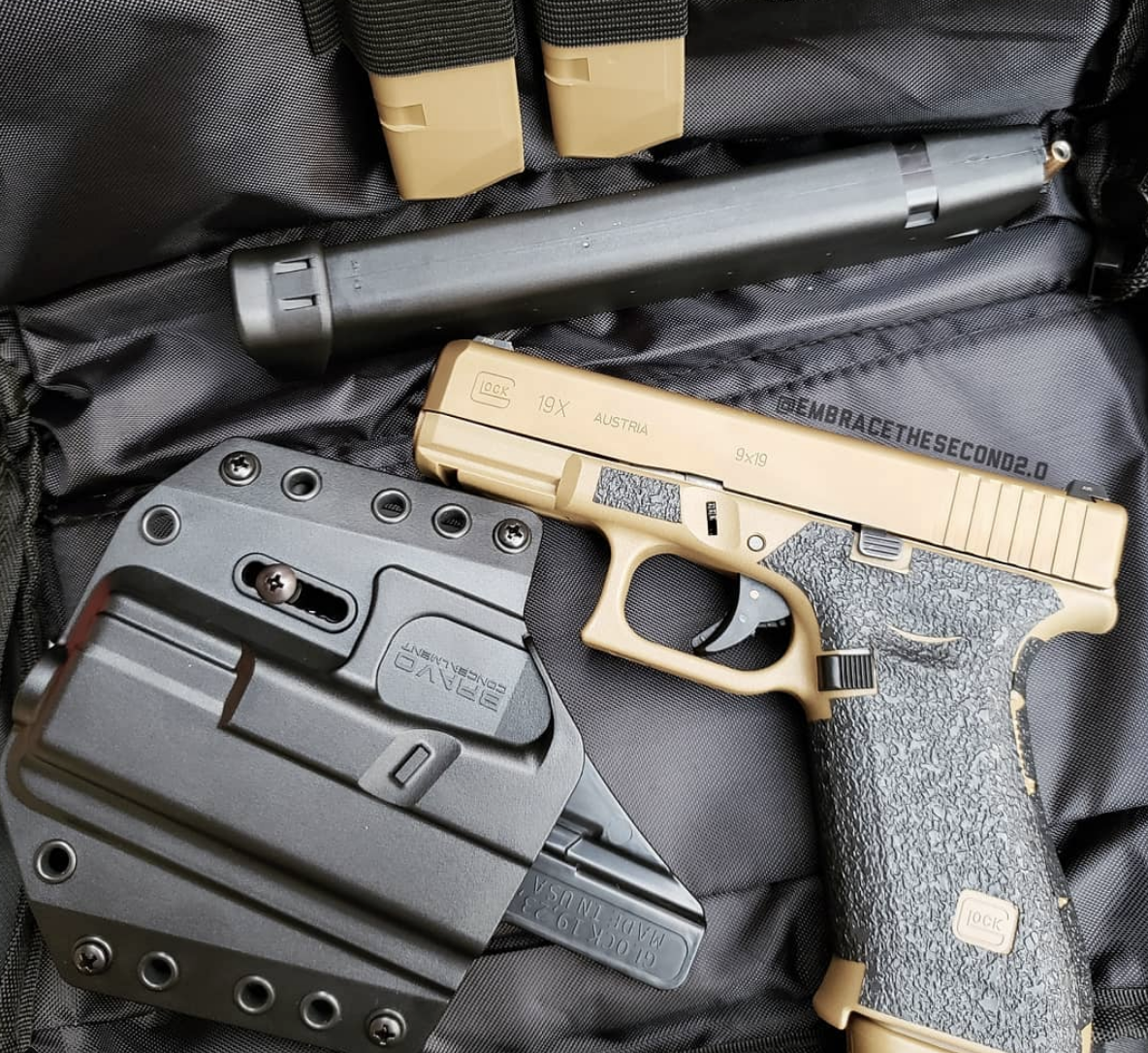 Best Open carry Handgun? Glock 19x for me! 19 round mag