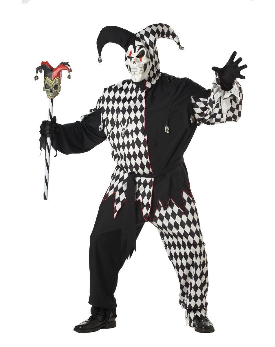 evil jester adult mens plus size costume – spirit halloween | evil