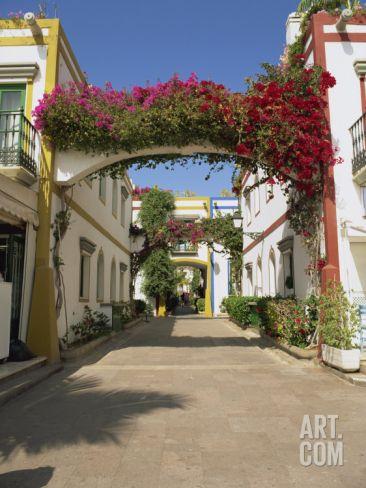 Little Venice's Alleyways, Puerto De Morgan, Gran Canaria, Canary Islands, Spain Photographic Print