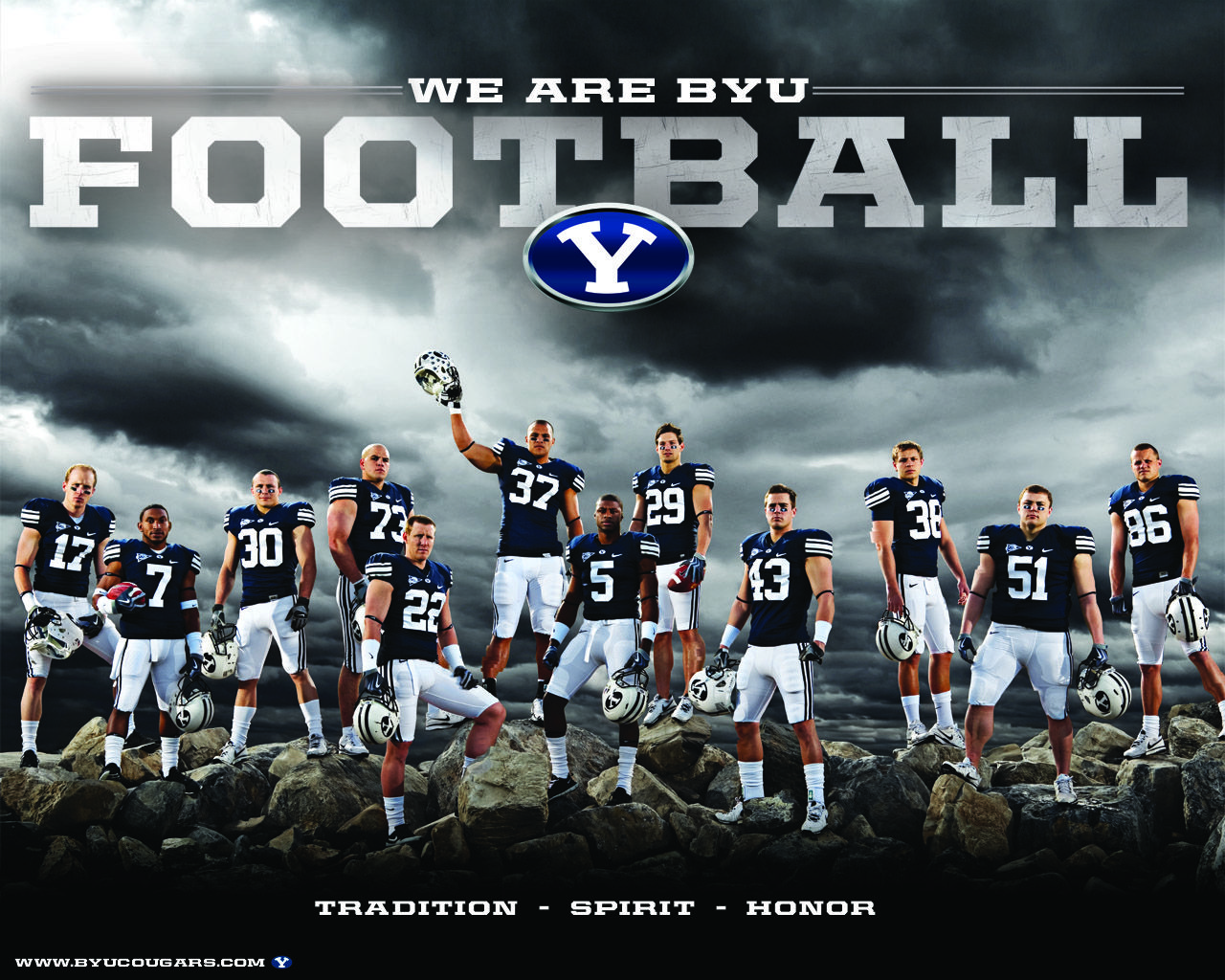 Tradition Spirit Honor Byu Football Go True Blue Football Team Pictures Football Poses Senior Football Banners