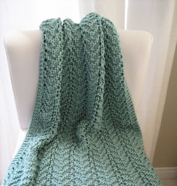 This lacy baby blanket pattern is great for your first lace pattern ...