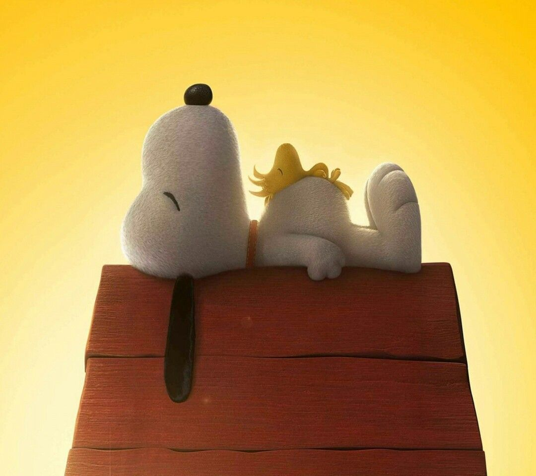 Snoopy and Woodstock. Best friends.