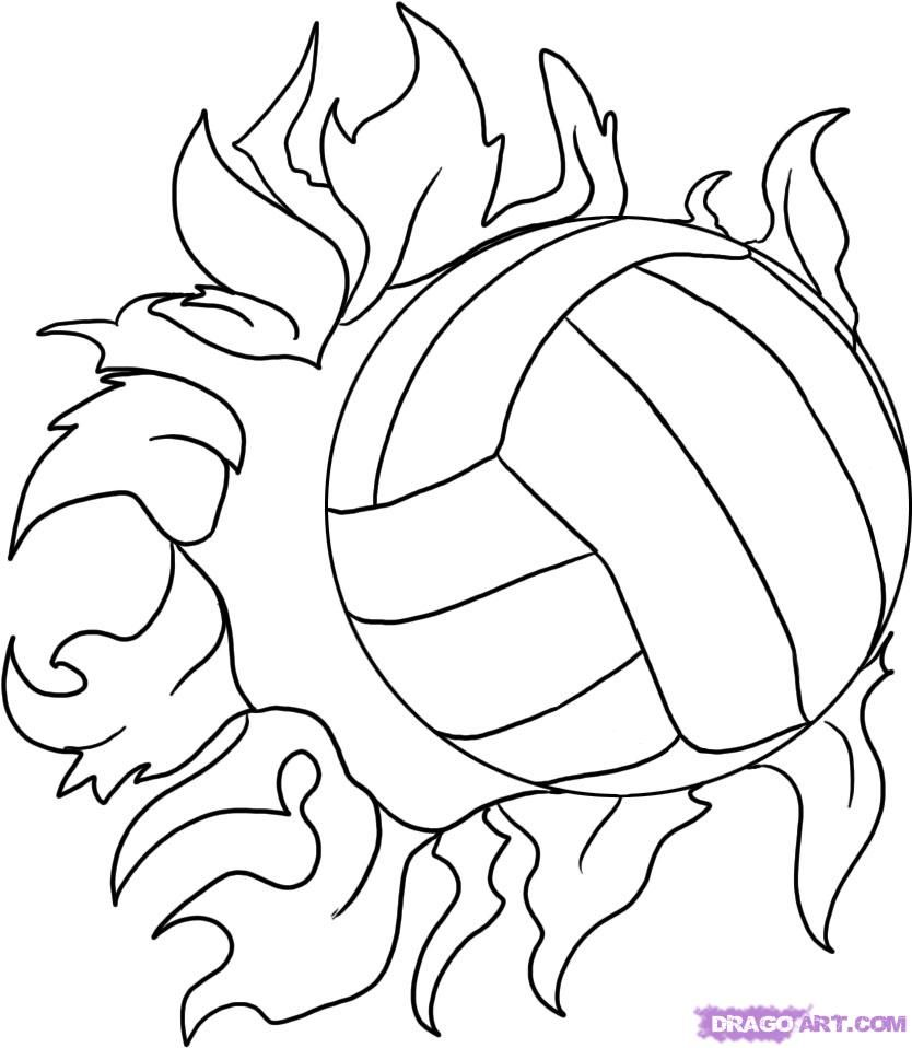 How To Draw A Volleyball Step 5 1 000000005818 5 Jpg 834 958 Volleyball Drawing Sports Coloring Pages Volleyball Posters