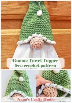 Crochet Gnome Towel Topper Free Pattern