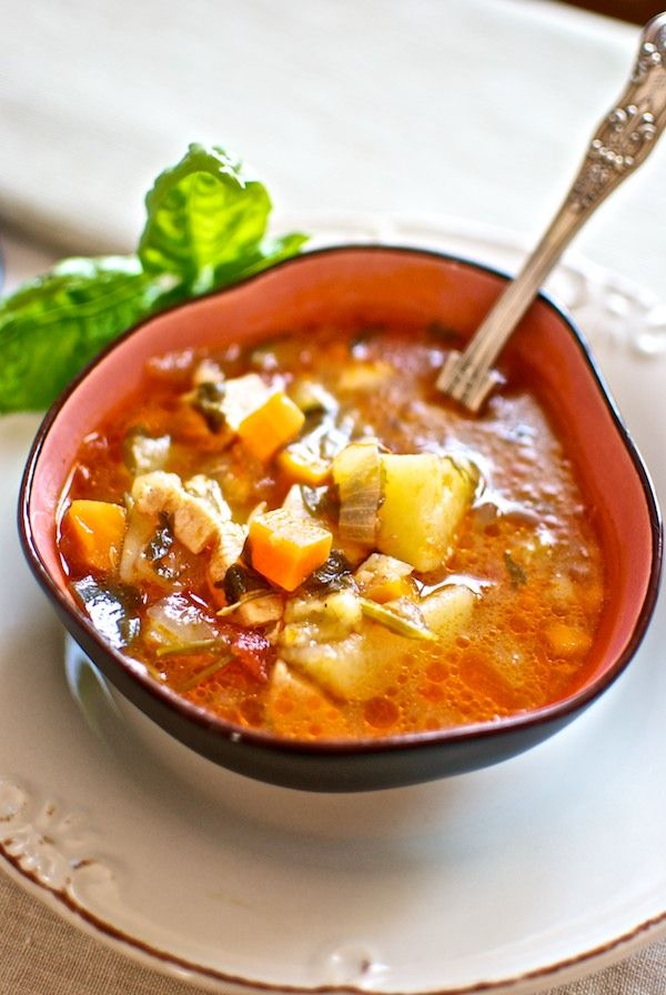 Sopa Menestra De Pollo Y Albahaca A Tu Gusto Comida Verduras Recetas De Comida