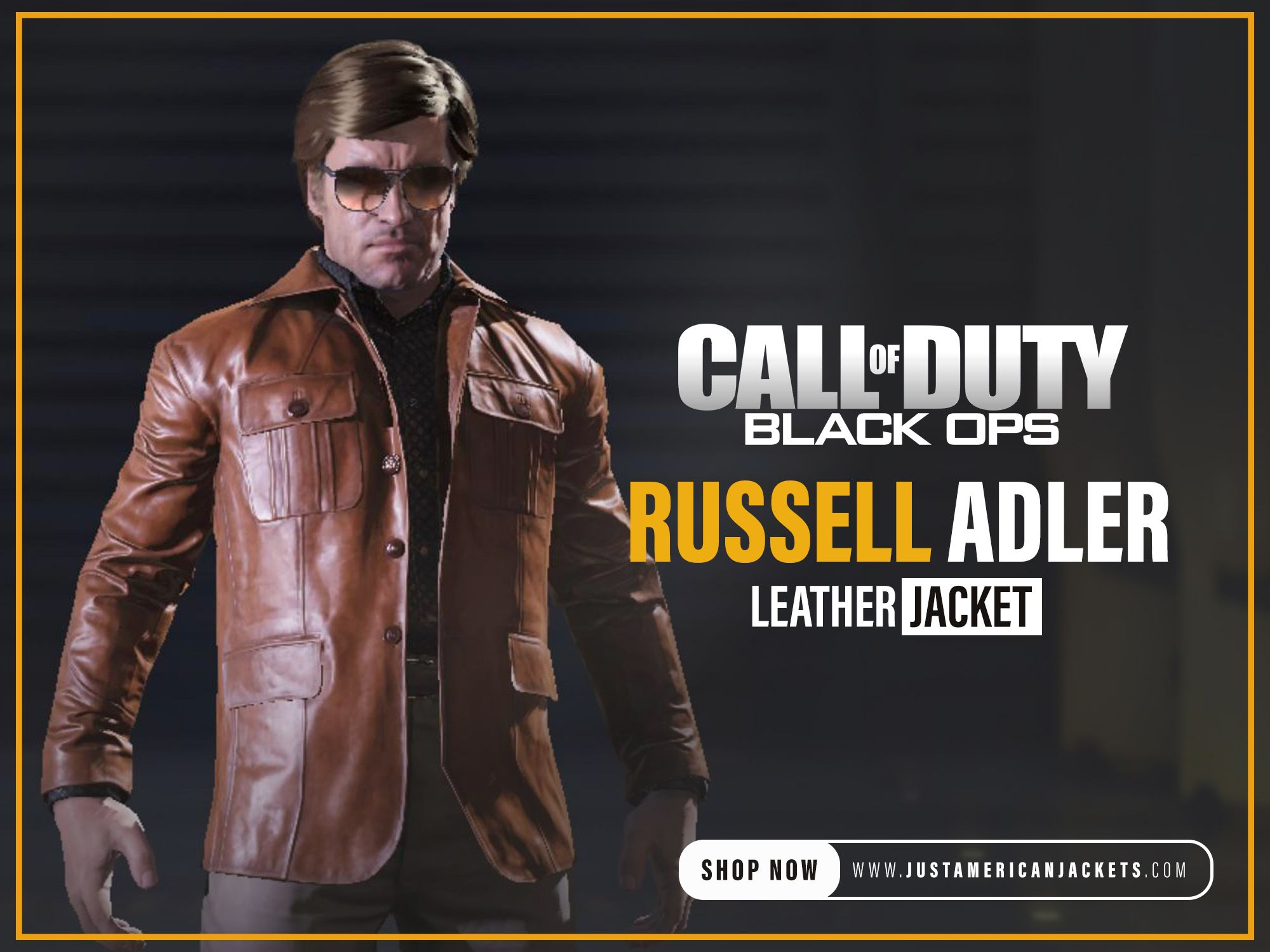 Call Of Duty Black Ops Russell Adler Jacket Just American Jackets In 2021 Leather Jacket Shopping Call Of Duty Black Black Ops [ 1500 x 2000 Pixel ]