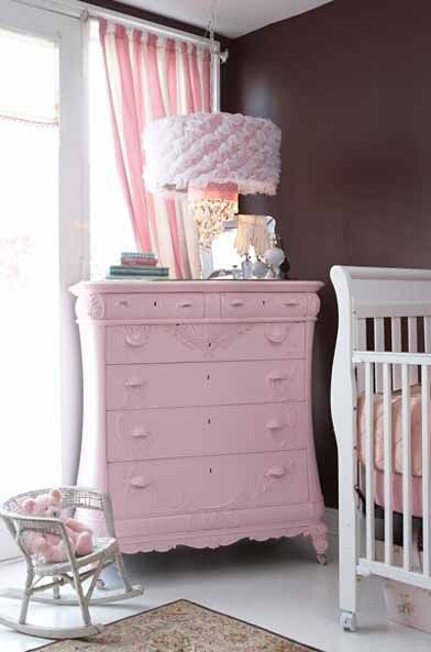 Shabby Chic Girly Baby Nurseries Rosa Kommode Kommode Shabby