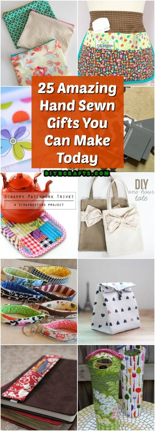 25 Amazing Hand Sewn Gifts With Free Patterns You Can Make Today Via Vanessacrafting Sewing Christmas Gifts Hand Sewing Projects Sewing Gifts