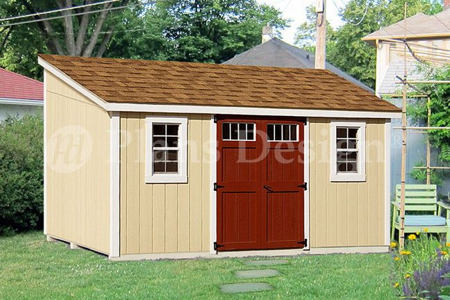 10 X 14 Storage Shed Plans Slant Lean To D1014l Material List Included 610708151890 Ebay Building A Shed Shed Plans Storage Shed