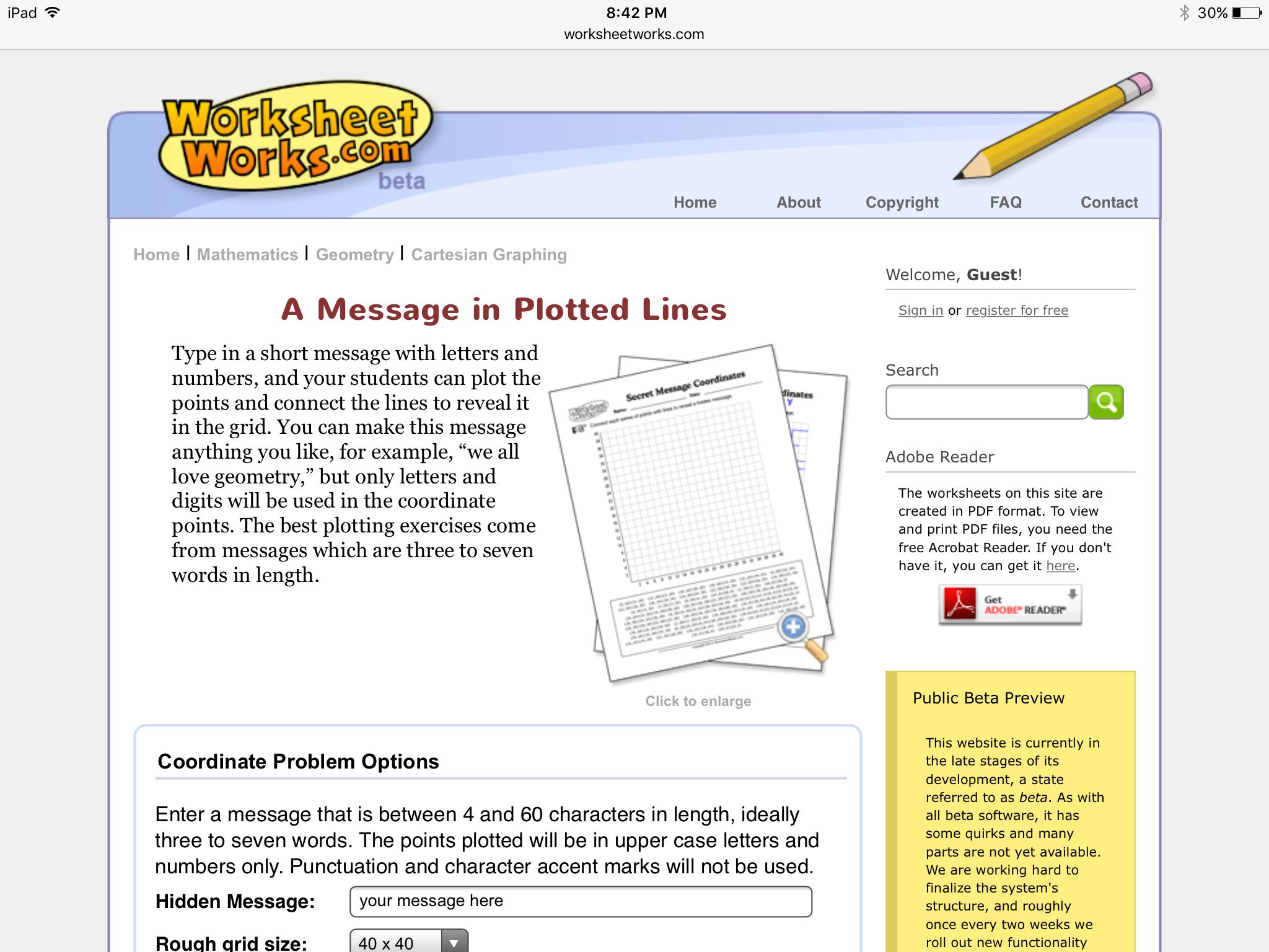 Make A Secret Message With Coordinate Grids