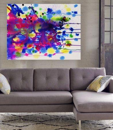 Colour bomb canvas art print