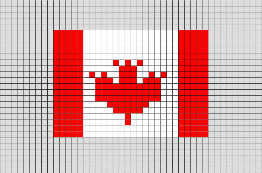 minecraft how to make canadian flag