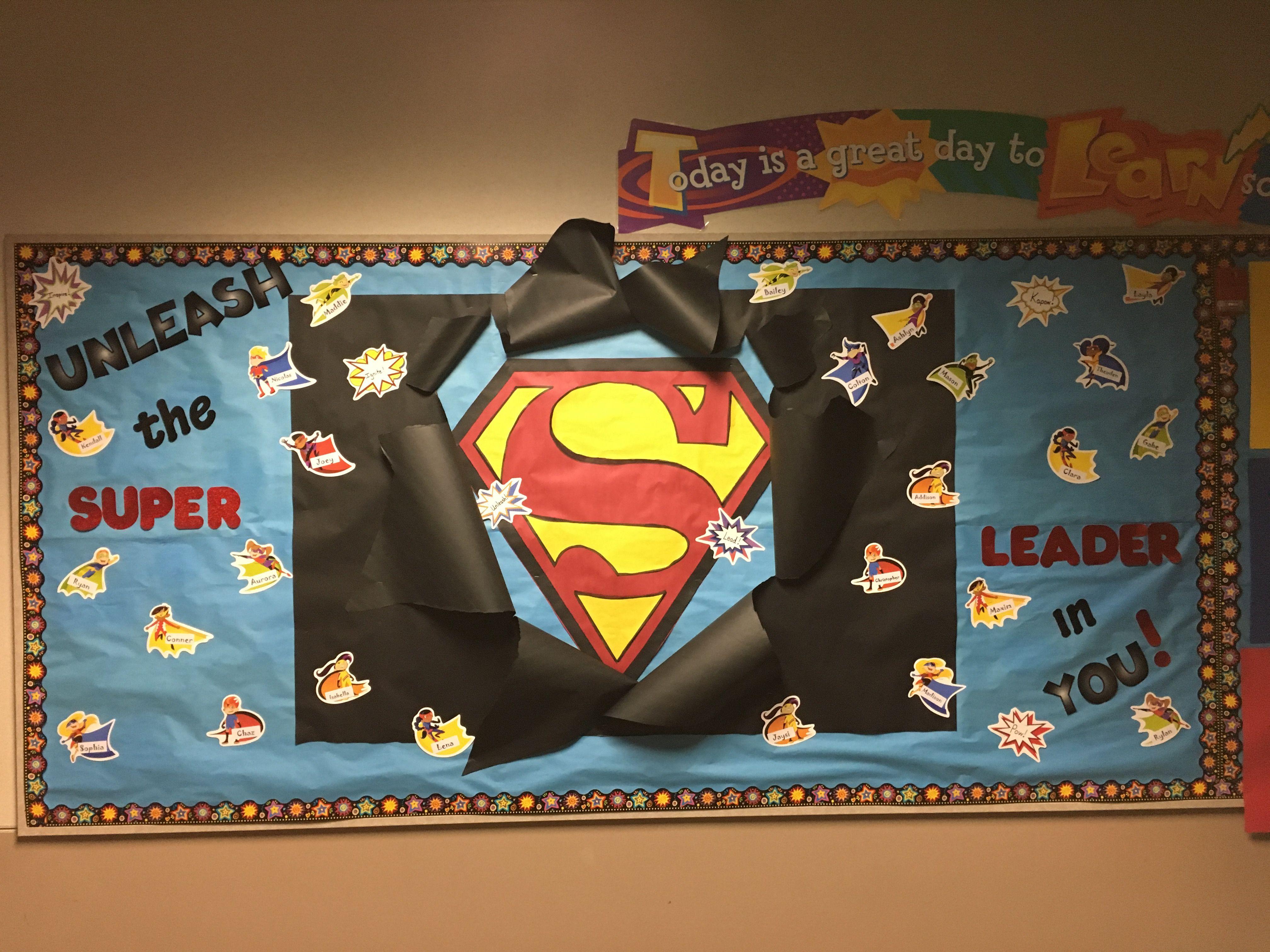 Superhero Bulletin Board Leader In Me