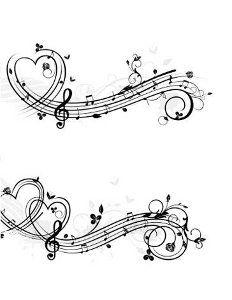 Music Heart Tattoo On Foot