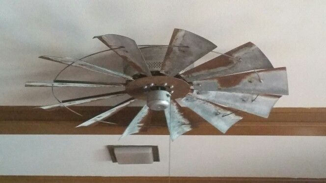 Attached An Old Windmill To My Ceiling Fan Love It Windmill