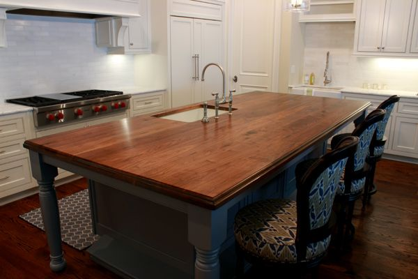 Shown In The Plank Construction Style With A Traditional Ogee Edge Profile And Satin Polyurethane Wood Walnut Kitchenwooden