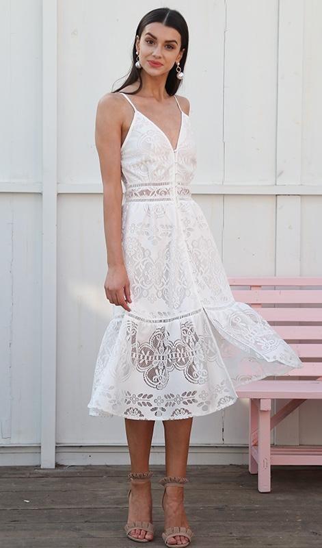 5cf0e6a102e Sophie Lace Dress - White or Blush