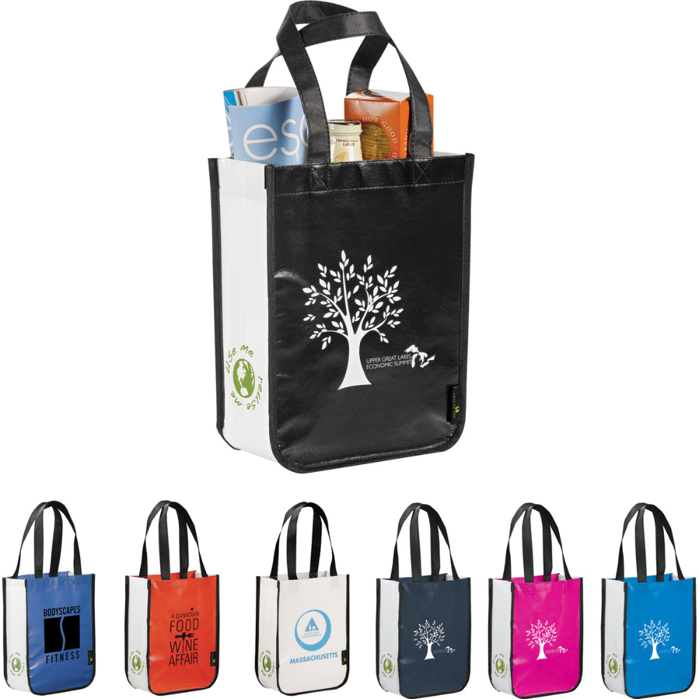 Small Laminated NonWoven Shopper Tote Custom tote bags
