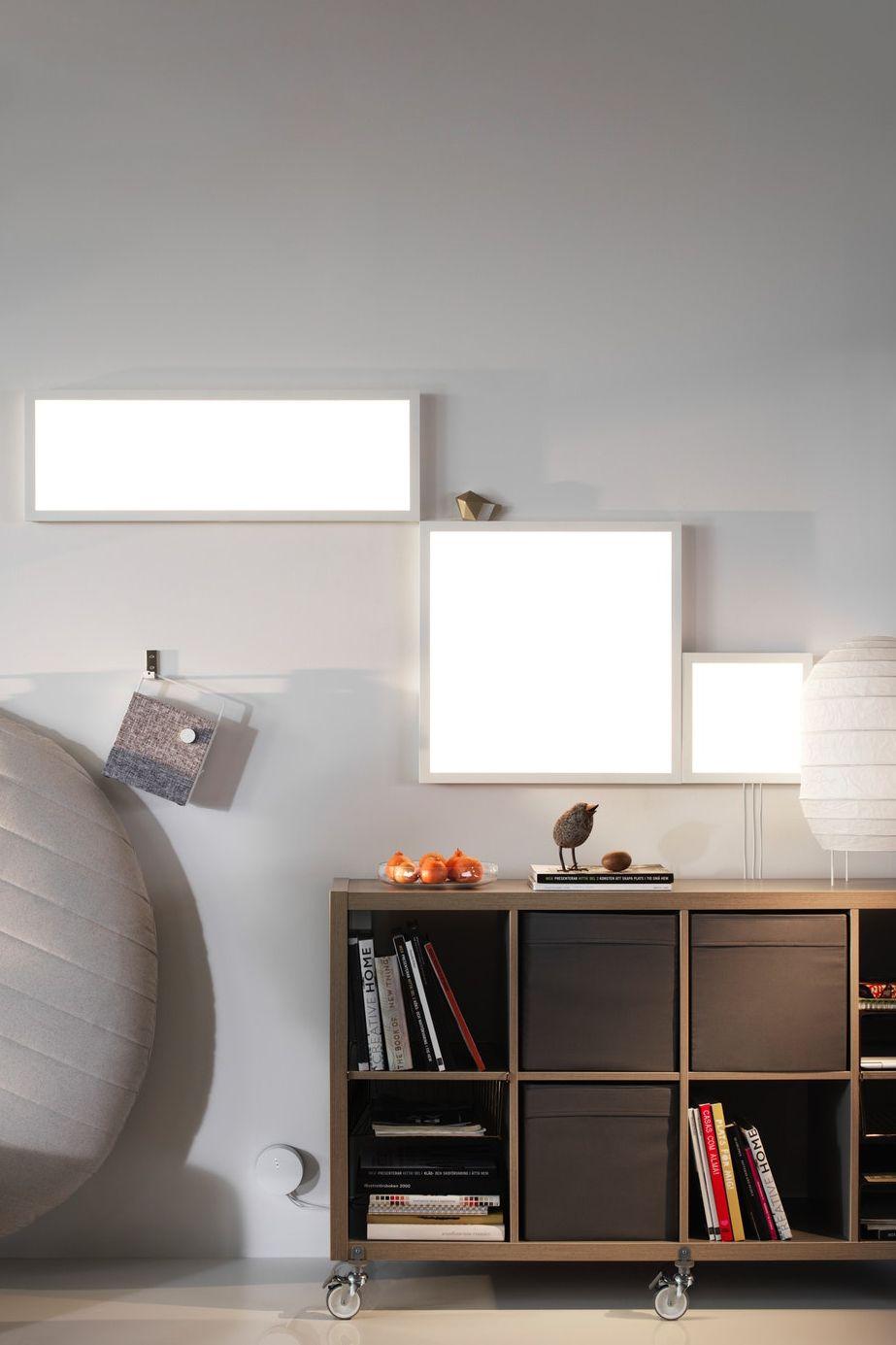 Ikea Deutschland Ob Eins Oder Mehrere Lichtpaneele Bringen Helligkeit In Die Dunkelsten Winkel Und Sie Lassen Sich Pe Intelligentes Haus Led Ikea