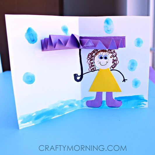 3d Umbrella Rainy Day Craft For Kids Preschool Crafts Pinterest