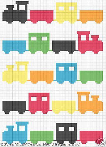 Crochet Patterns-TRAIN SCRAP YARN Afghan Pattern *EASY   Pinterest ...