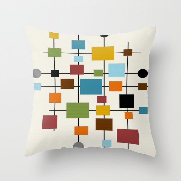 Mid Century Modern Art 1 3 Throw Pillow In 2020 Modern Throw Pillows Mid Century Modern Art Throw Pillows