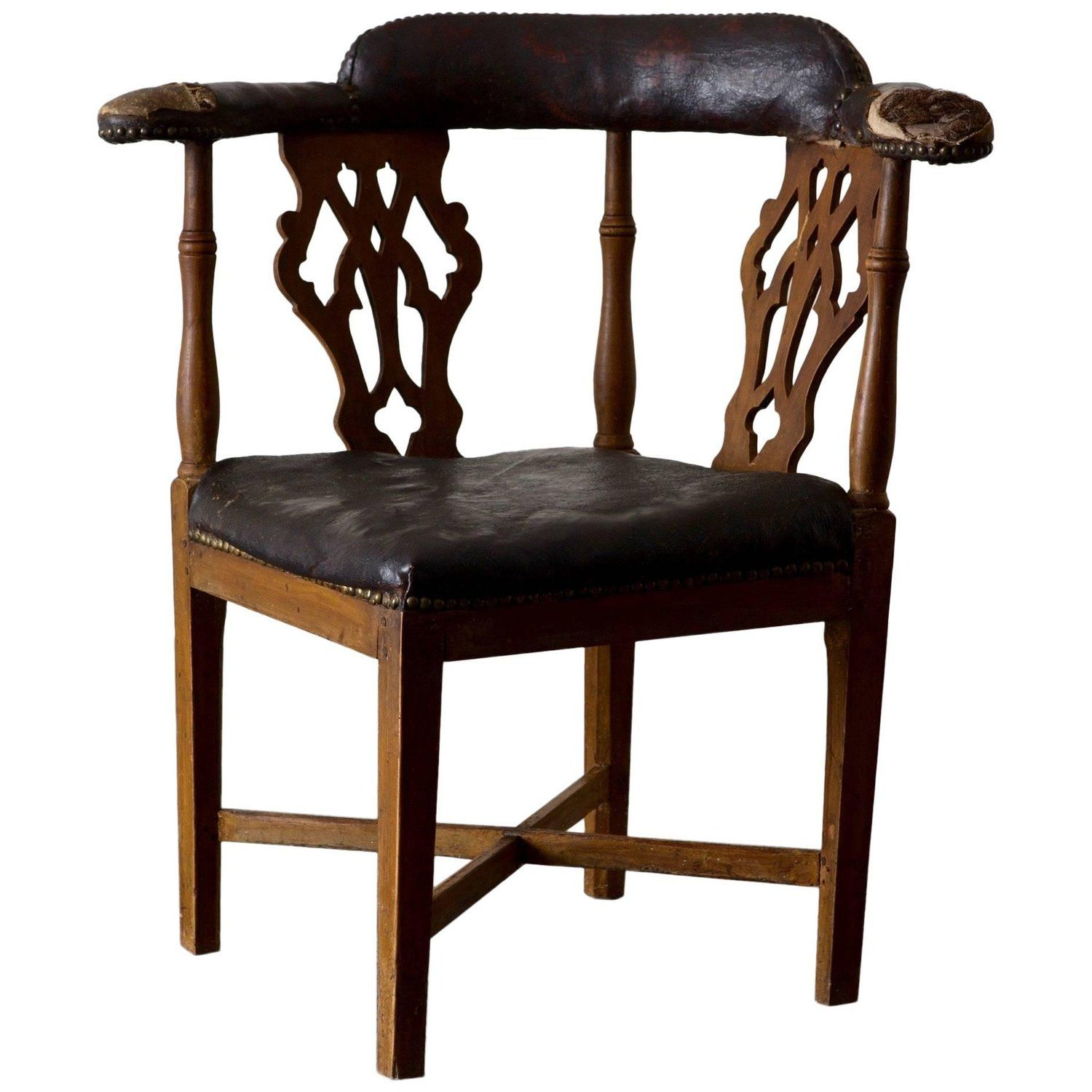 Chair corner swedish leather rustic sweden chair