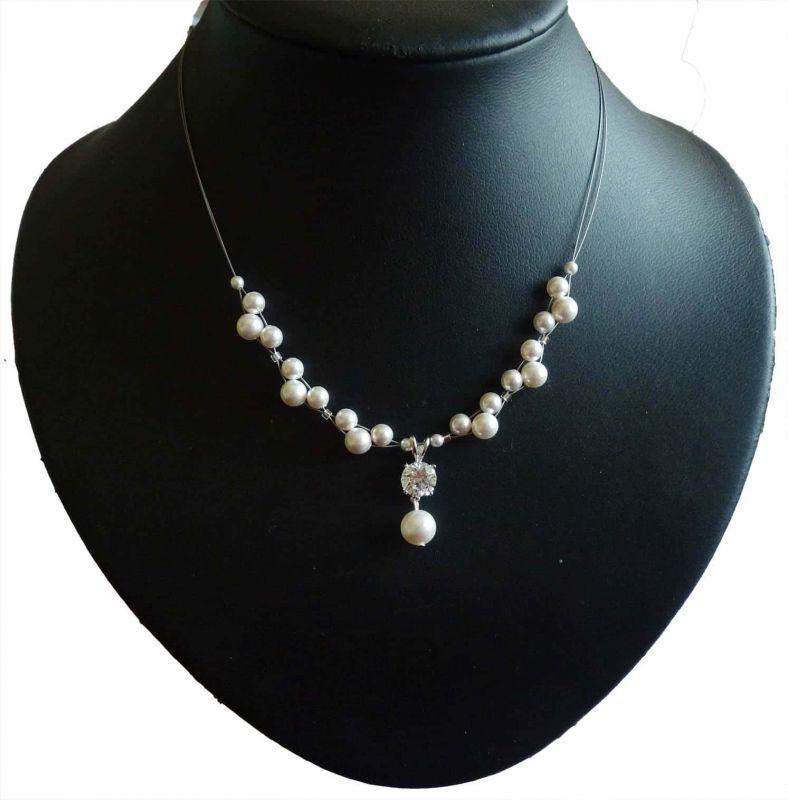 Brautschmuck perlenkette  toller Design Brautschmuck - 925 Perlenkette | BRAUT & SCHMUCK ...