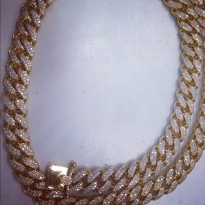 Cuban Flag Beanie Meek Mill Iced Out Gold Cuban Necklace