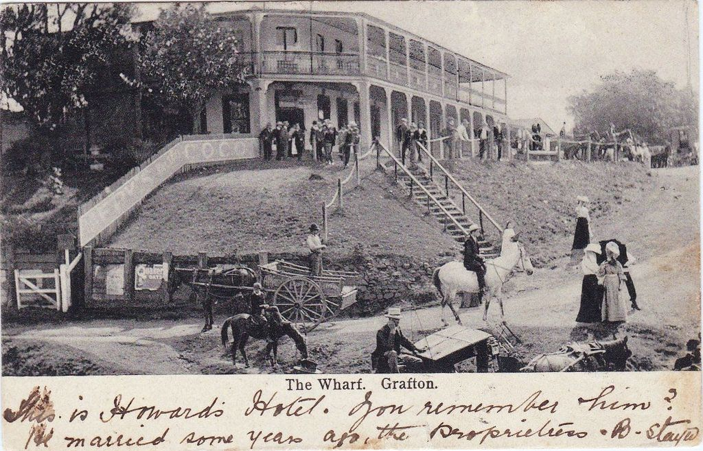 Howards Hotel The Wharf Grafton Nsw Very Early 1900s