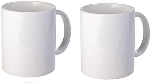 Amazon Com White Plain Coffee Mug Made Of Ceramic 11 Oz Each Pack Of 2 Kitchen Dining White Coffee Mugs Plain Mugs Mugs