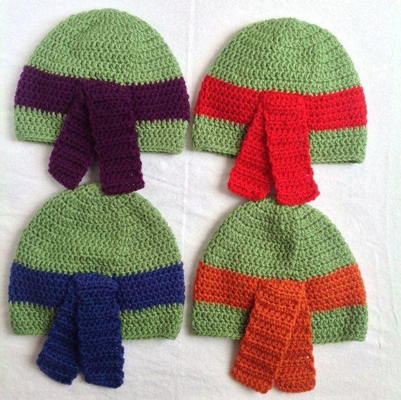 Teenage Mutant Ninja Turtles TMNT Crochet Hat - Child size, All ...