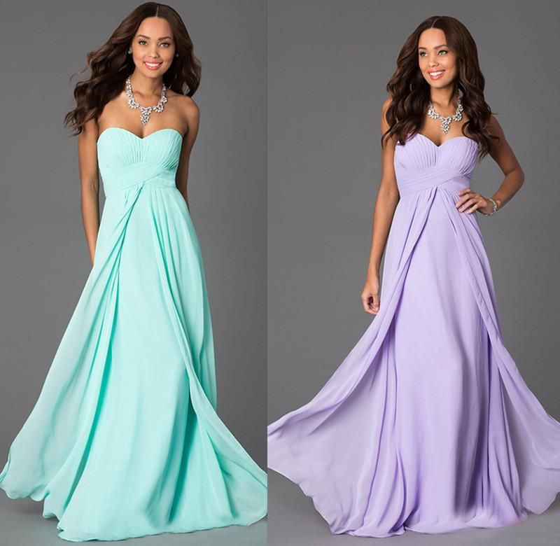 Mint Bridesmaid Dress Lavender Chiffon Simple 2016