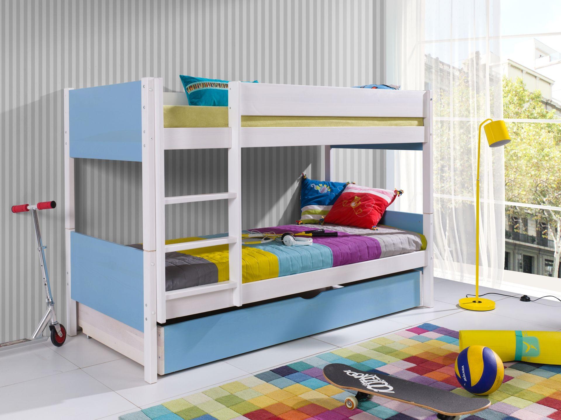 łóżko Piętrowe Tolo W Pięknych Kolorach Solidne łóżko Z