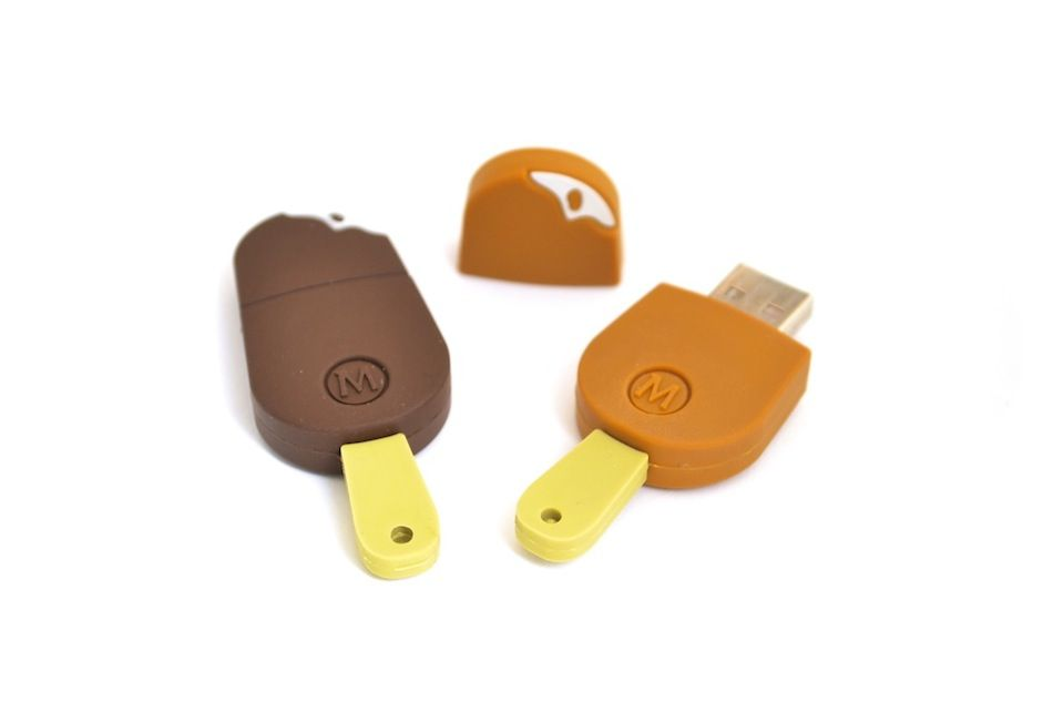 Love these magnum popsicles - we helped launch their campaign with these Custom shaped USB keys