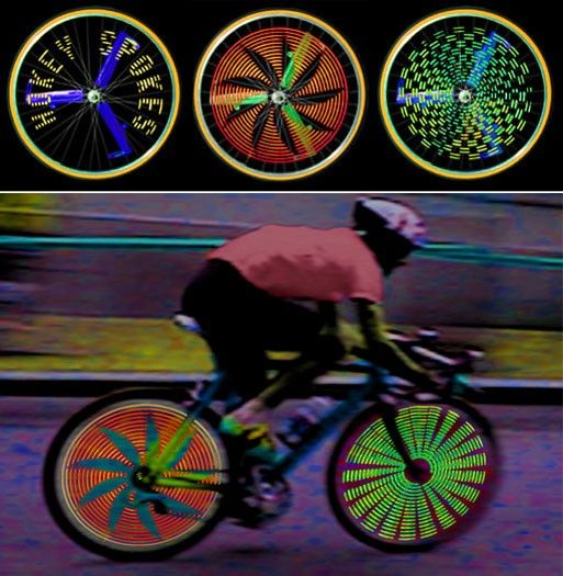 Hokey Spokes - with computer generated messages and patterns