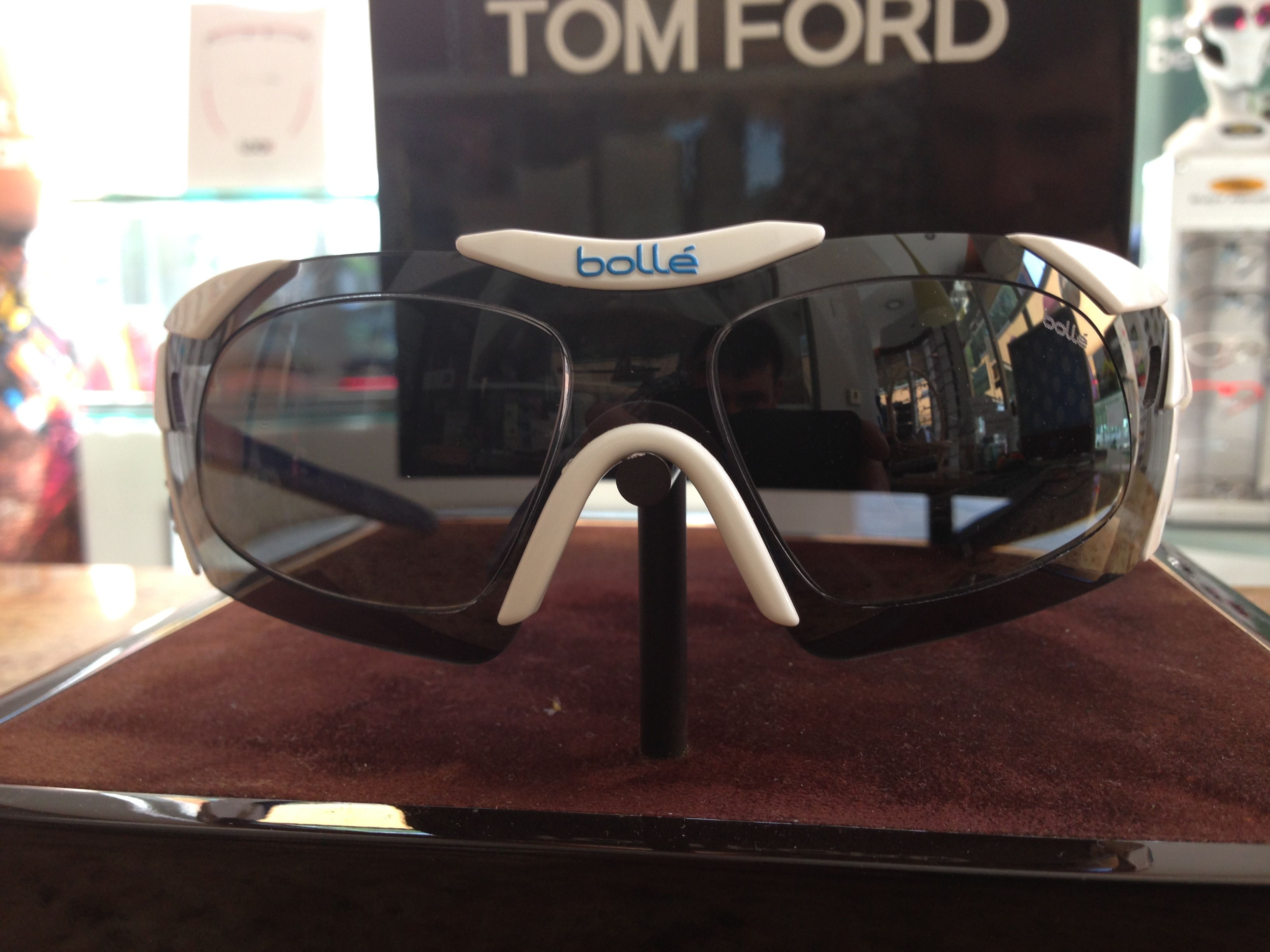 Gafas graduadas Bolle 6th Sense  (blanca y azul con lentes grises)