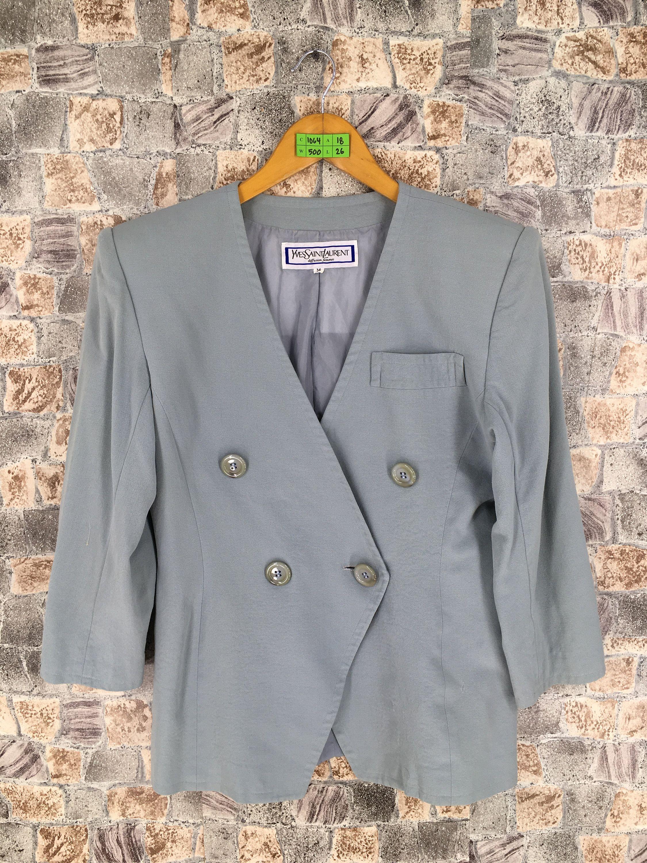 f5187f1ba65 #clothing #women #jacket #button #yohjiyamamotocoats #womenblazer  #ladiesformalcoat #womenformalcoat #yslwomenblazer