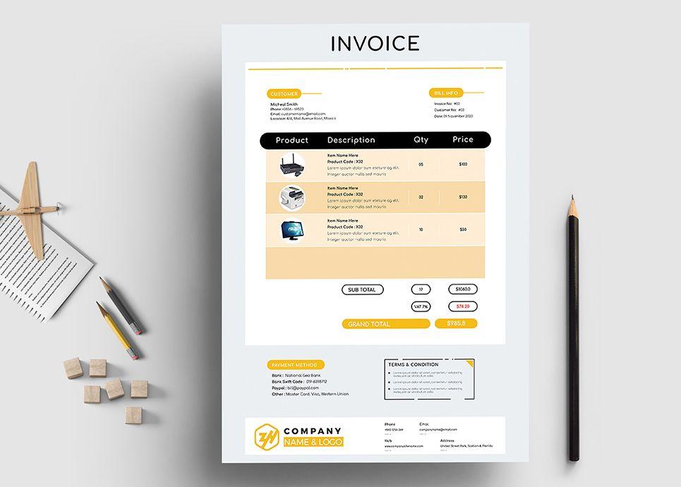 Iltax Invoice Memo Corporate Identity Template 84529 Corporate Identity Invoice Template Templates