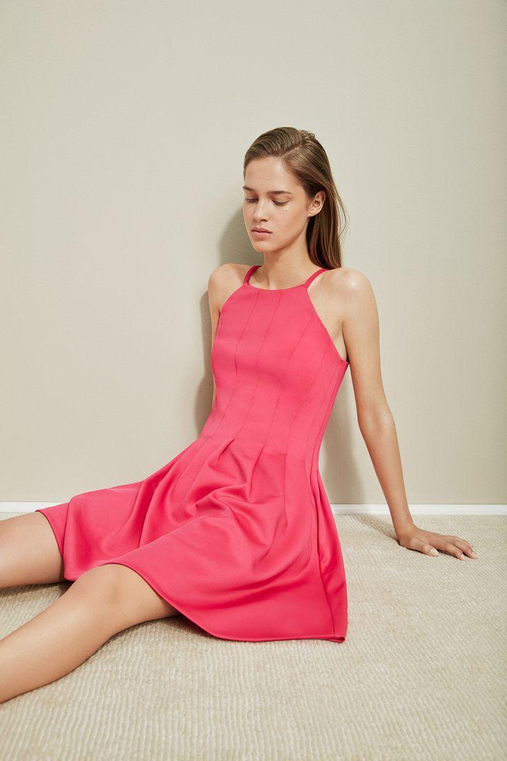 48+ Calvin klein sleeveless scuba fit flare dress trends