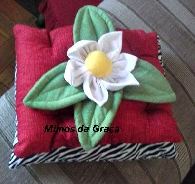 almofadinha flor