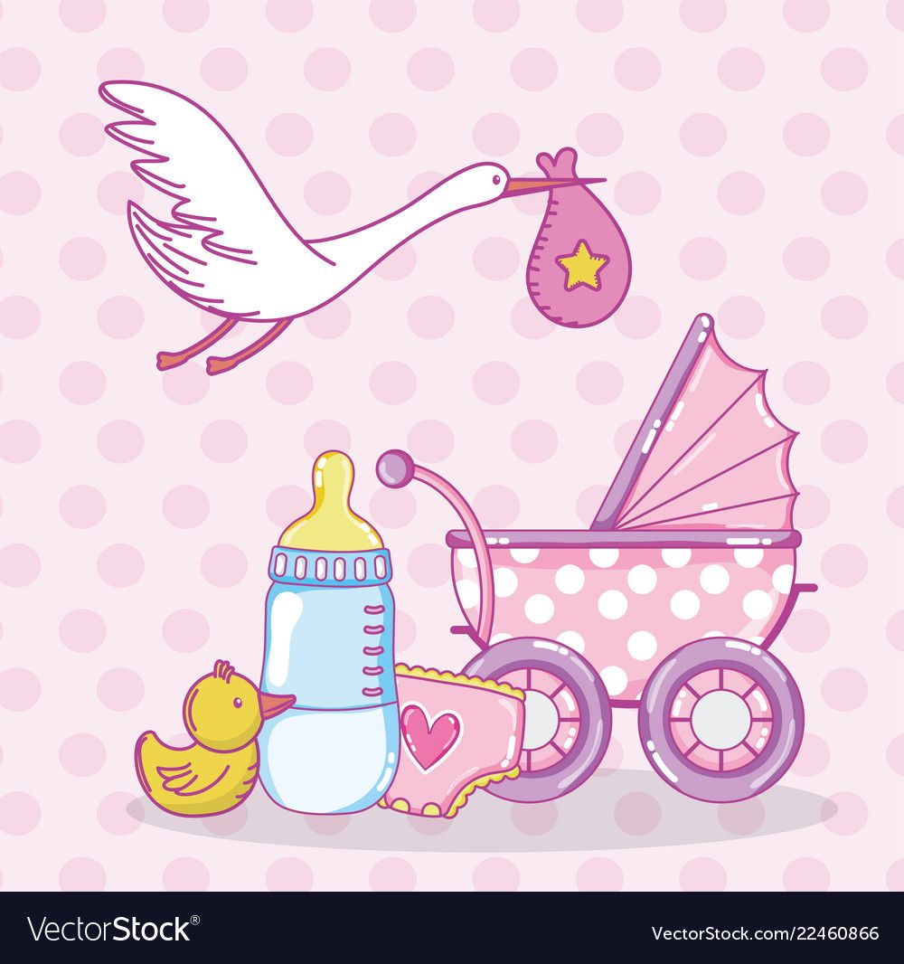 Baby shower cartoons vector image on в 2020 г